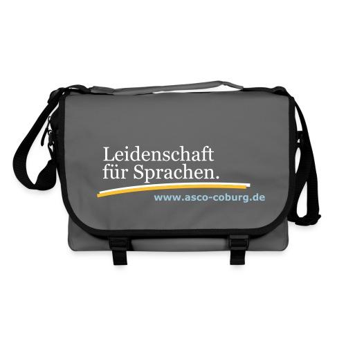Messenger Bag Leidenschaft für Sprachen grey - Umhängetasche