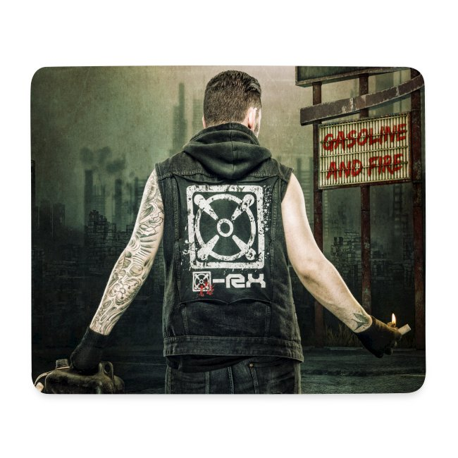 [x]-Rx Gasoline and Fire Mousepad