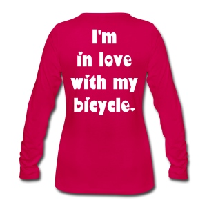 Velo Love - I'm in love with my bicycle. (women) - Frauen Premium Langarmshirt