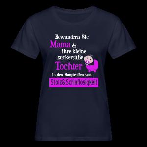 Stolze Mama einer Baby Tochter T-Shirts
