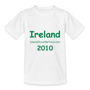 CHILDREN - 2010 Ireland White - Teenage T-shirt
