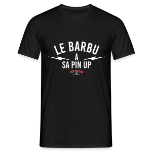 Le Barbu à sa Pin Up - T-shirt Homme