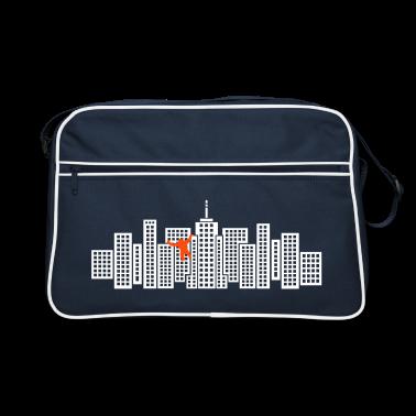 Navy/white Monster Stadt Skyline Bags