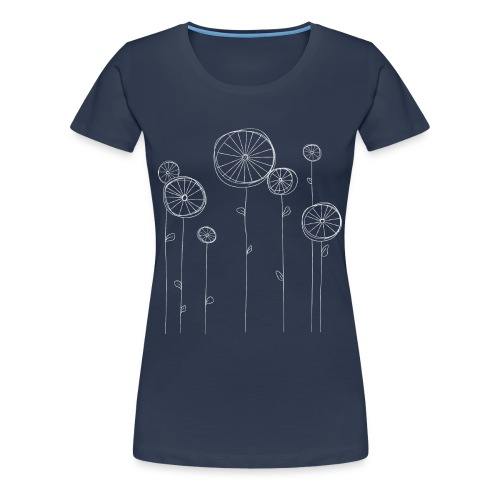 Fahrradblumen (women) - Frauen Premium T-Shirt