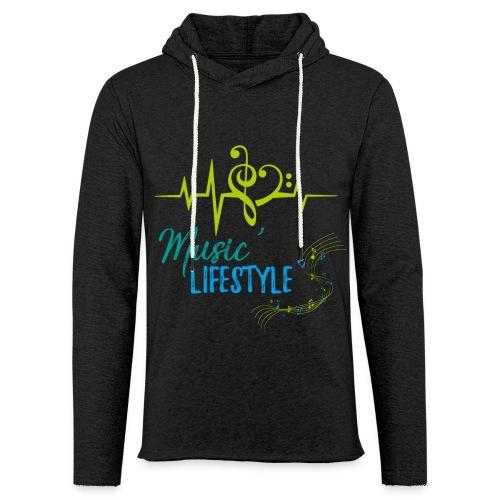 MUSIC'LIFESTYLE - Sweat-shirt à capuche léger unisexe