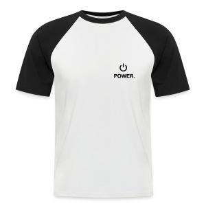 power shirt2 - Mannen baseballshirt korte mouw