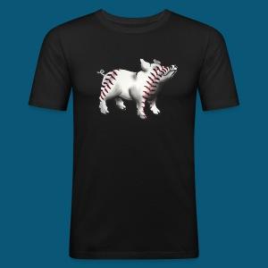 Baseball Pork - Männer Slim Fit T-Shirt