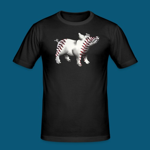 Baseball Pork - Männer Slim Fit T-Shirt