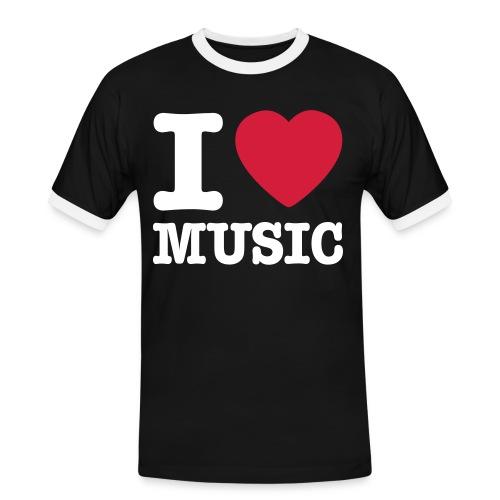 Misic2 - Koszulka męska z kontrastowymi wstawkami