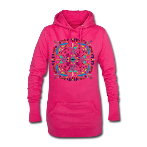 Kite Mandala Hoodie Kleid - Hoodie-Kleid