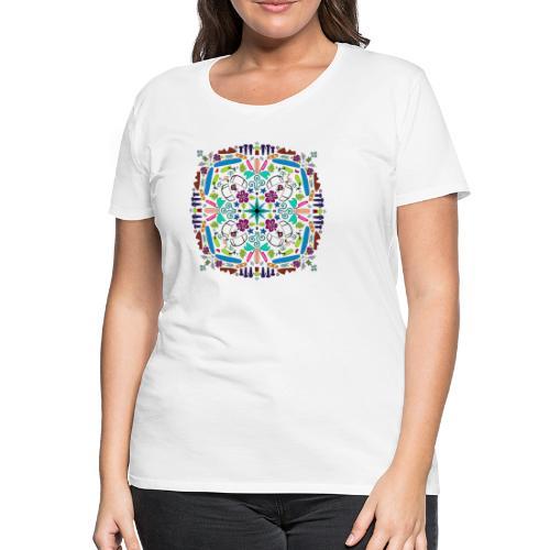 Kite Mandala T-Shirt Mädls - Frauen Premium T-Shirt