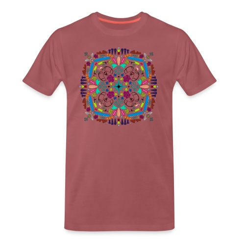 Kite Mandala T-Shirt Burschn - Männer Premium T-Shirt