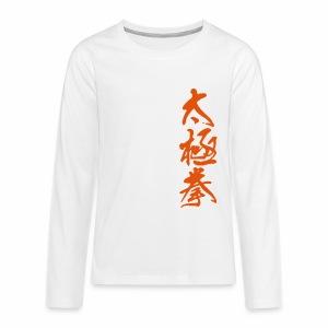 Taijichuan - Teenager Premium Langarmshirt