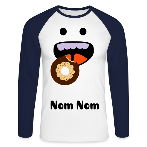 Nom donut - Men's Long Sleeve Baseball T-Shirt