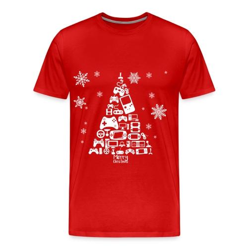 Videospiele Weihnachtsbaum | Shirt - Men's Premium T-Shirt