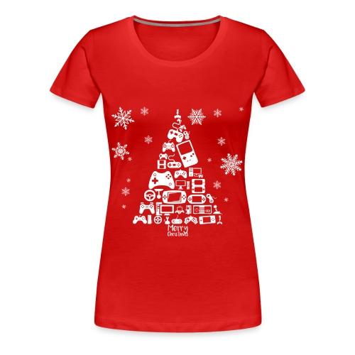 Videospiele Weihnachtsbaum | Shirt - Women's Premium T-Shirt