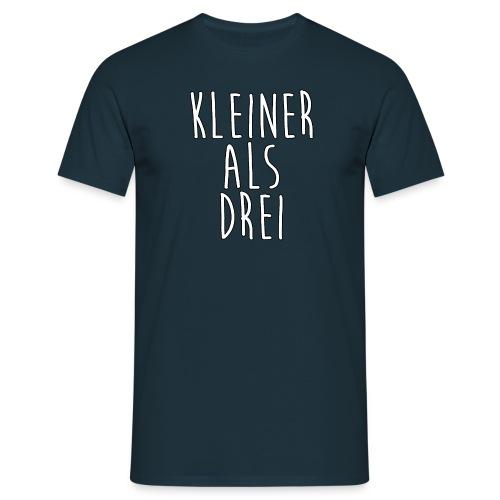 Männer T-Shirt | Kleiner als Drei - Männer T-Shirt