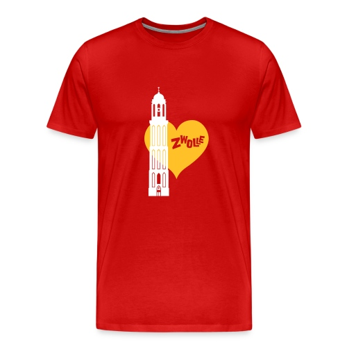 Hartenstad Zwolle Premium T-Shirt - Mannen Premium T-shirt