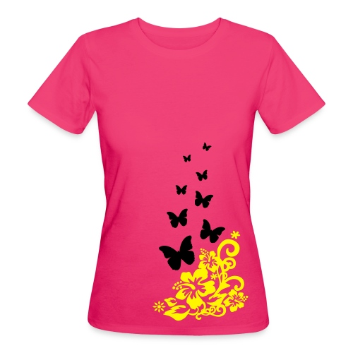 Flowers and Butterflies - Women's Organic T-shirt