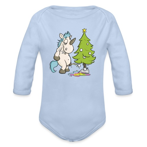Einhorn Kurt feiert Weihnachten (1) - Baby Bio-Langarm-Body