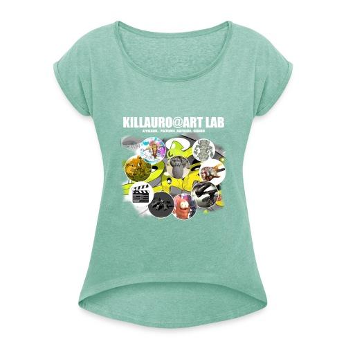 KLR@ART LAB 1C - T-shirt à manches retroussées Femme