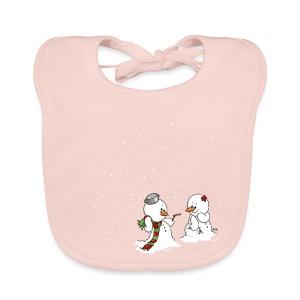 Schneemann & Schneefrollein - Baby Bio-Lätzchen