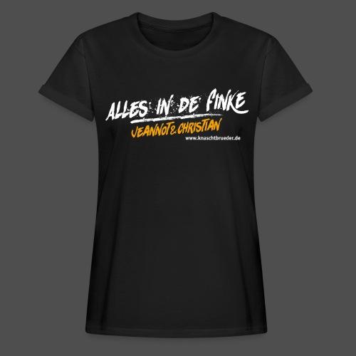 Frauen Oversize T-Shirt Alles in de Finke - Frauen Oversize T-Shirt