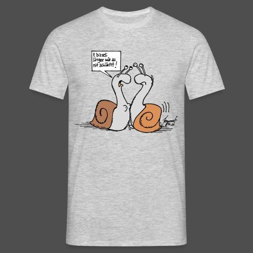 Herren-T-Shirt E bitzeli länger… - Männer T-Shirt