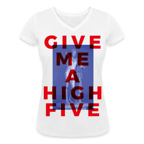High Five - Girl- Col V - T-shirt bio col V Stanley & Stella Femme
