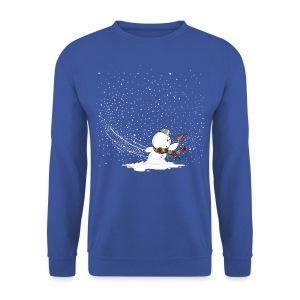 Schneemann im Sturm - Männer Pullover