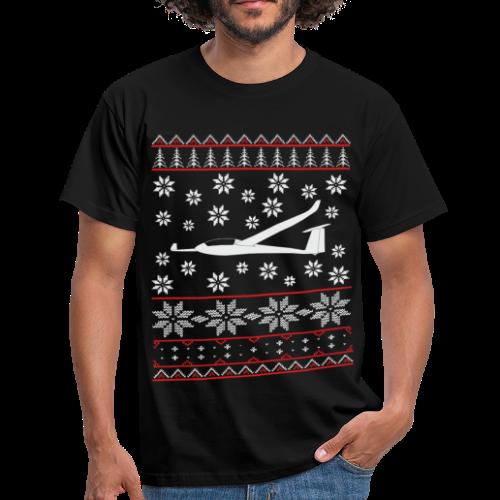 glider pilot ugly christmas 2x designs - Männer T-Shirt