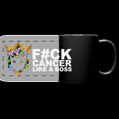 F#CK Cancer mug - Full Color Panoramic Mug