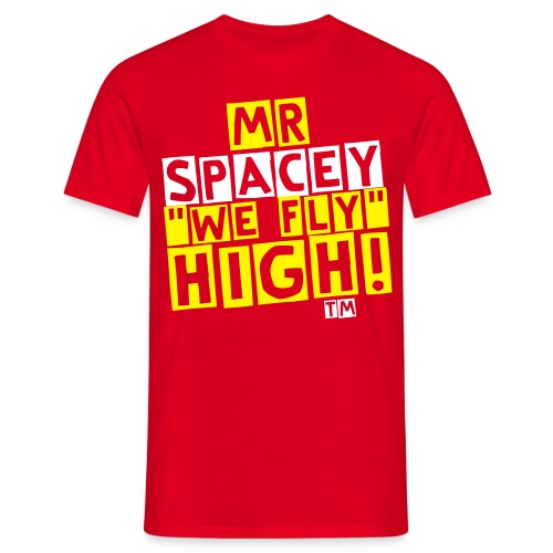 SPACEY GLOW IN THE DARK BACK PICTURE - Men's T-Shirt
