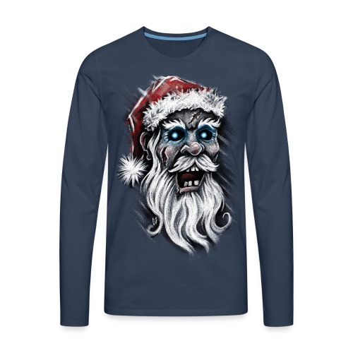 Zombie Santa Claus - Men's Premium Longsleeve Shirt