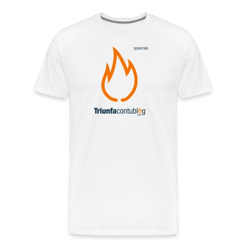 Camiseta hombre Triunfacontublog.com Blanca con nombre Sebastián - Camiseta premium hombre