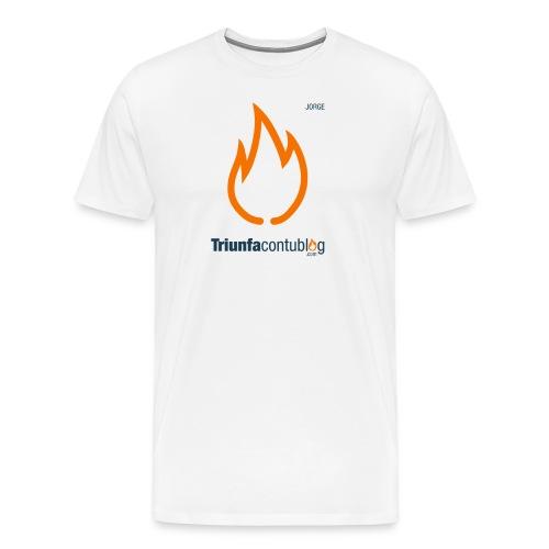 Camiseta hombre Triunfacontublog.com Blanca con nombre Jorge - Camiseta premium hombre