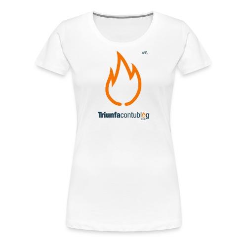 Camiseta mujer Triunfacontublog.com Blanca con nombre Ana - Camiseta premium mujer