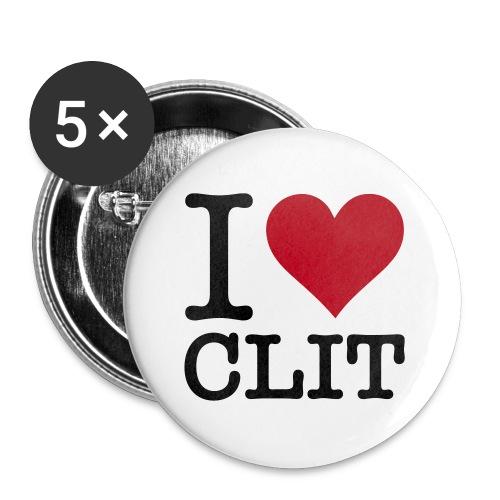 I Love Clit - Buttons klein 25 mm (5er Pack)