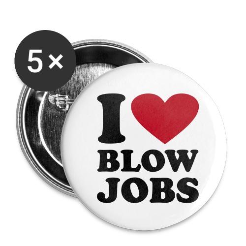 I Love Blow Jobs - Buttons klein 25 mm (5er Pack)