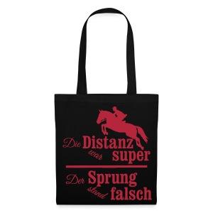 Springreiter Spruch - Distanz - Stoffbeutel