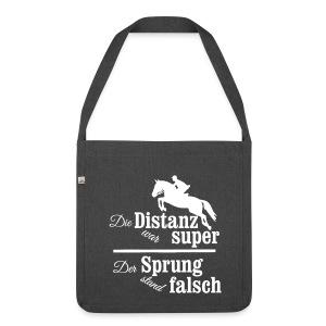 Springreiter Spruch - Distanz - Schultertasche aus Recycling-Material