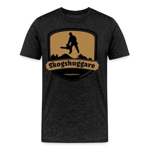 T-shirt med Skogshuggaremblem - Premium-T-shirt herr