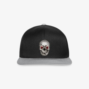 WAZZEFUK-Schädel ohne Text / Skull only - Snapback Cap