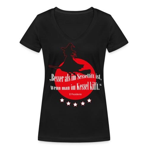 Kessel-Shirt Frauen - Frauen Bio-T-Shirt mit V-Ausschnitt von Stanley & Stella