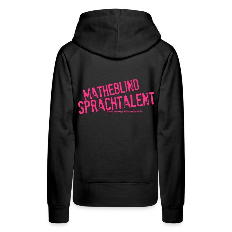 Sprachtalent_Matheblind_S - Frauen Premium Hoodie