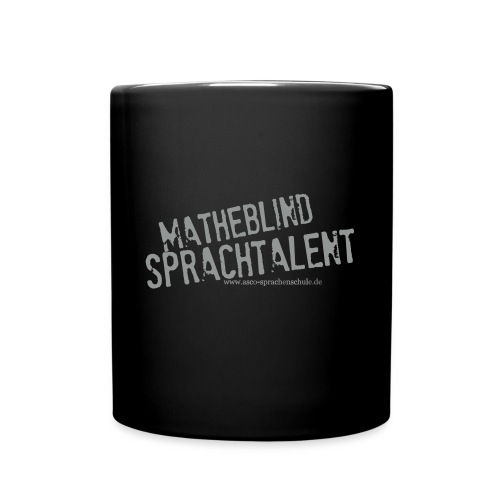 Sprachtalent_Matheblind_S - Tasse einfarbig