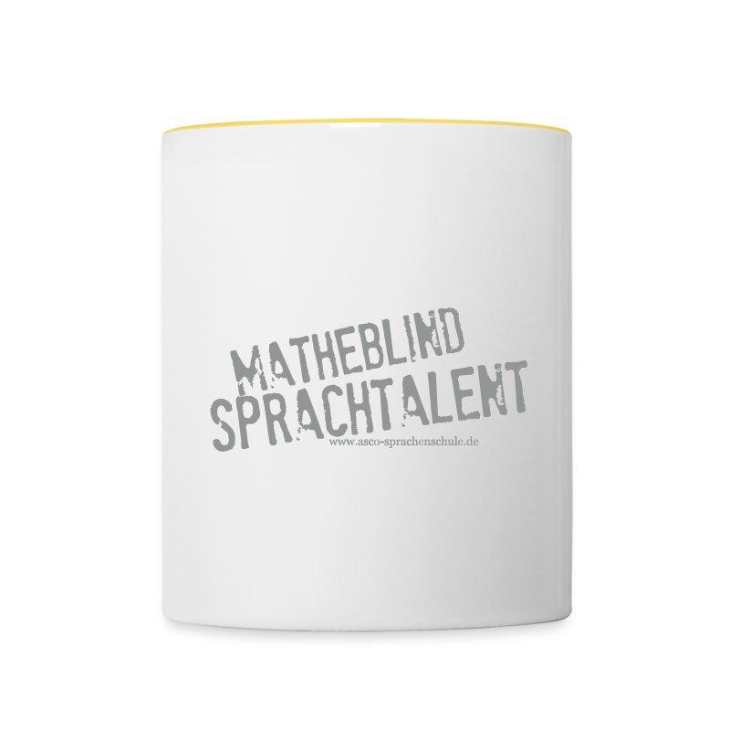 Sprachtalent_Matheblind_S - Tasse zweifarbig