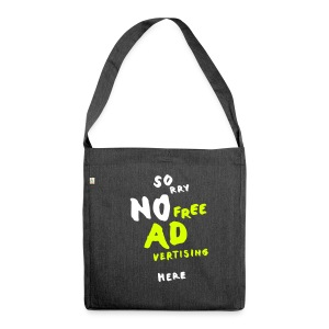 Ad Free / Two, Recycling Tote Bag - Schultertasche aus Recycling-Material