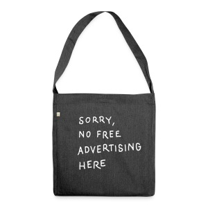 Ad Free / One, Recycling Tote Bag - Schultertasche aus Recycling-Material