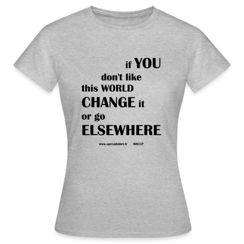 Change world - Texte noir - T-shirt Femme